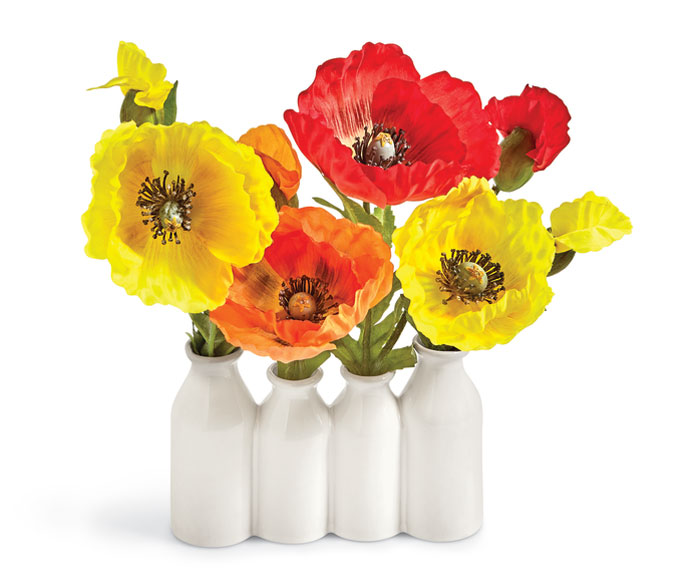 9288: Poppies in Bottle Vase (Product Detail)