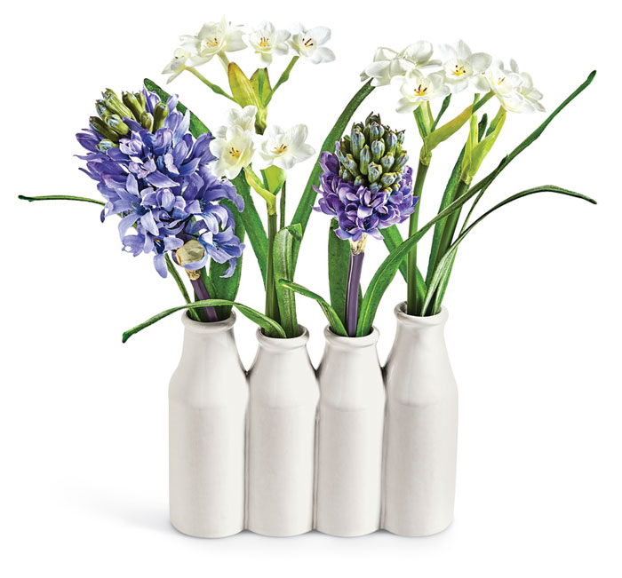 9289: Hyacinths and Paperwhites in Bottle (Product Detail)