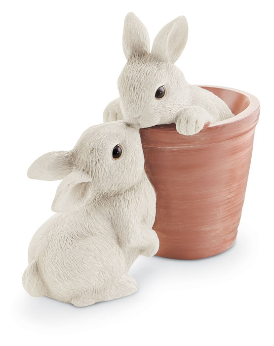9257: Loving Bunnies in a Pot (Product Detail)