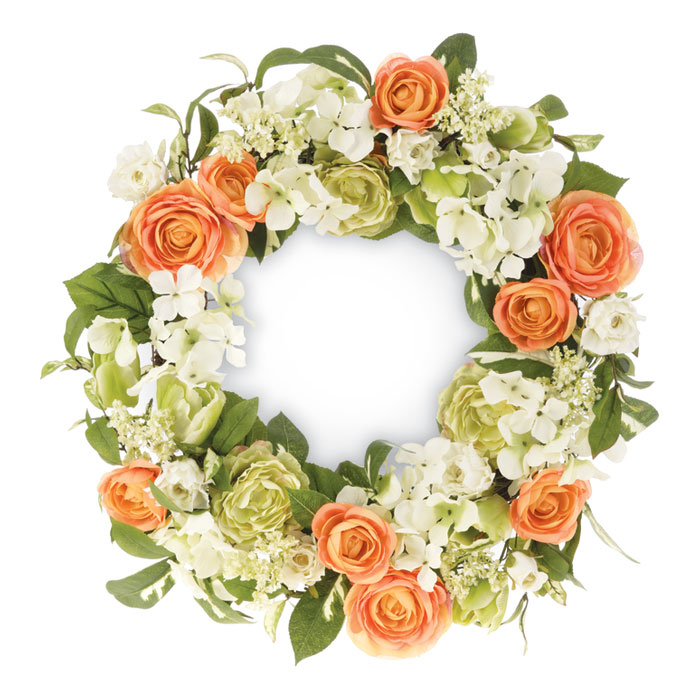 9304: Floral Peony and Hydrangea Wreath (Product Detail)