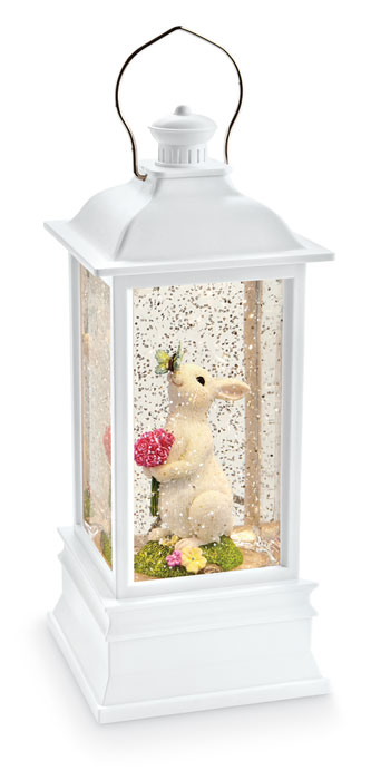 9258: Bunny with Butterfly Water Lantern (Product Detail)