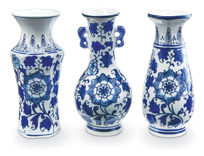 9261: Blue and White Vases (Set of Three) (Product Detail)