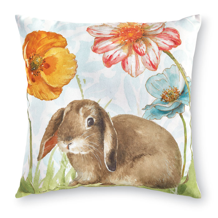 9229: Floppy Ears Bunny Floral Pillow (Product Detail)