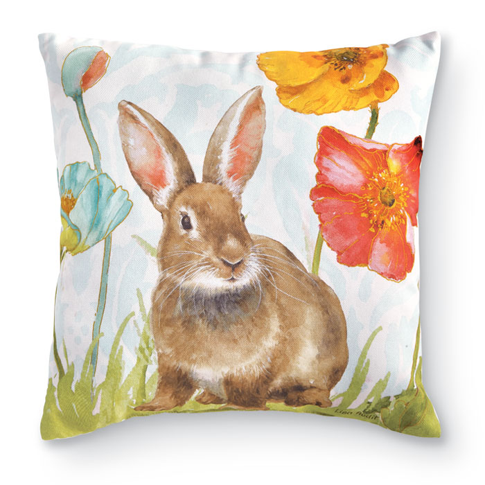 9230: Ears Up Bunny Floral Pillow (Product Detail)