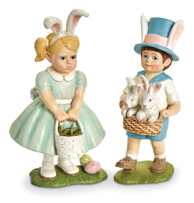 9254: Easter Hunt Boy and Girl (Set of Two) (Product Detail)
