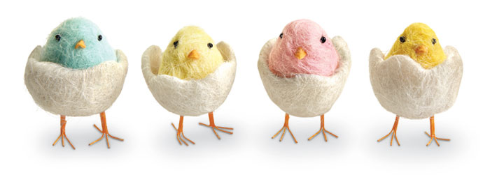 9255: Colorful Chicks (Set of Four) (Product Detail)