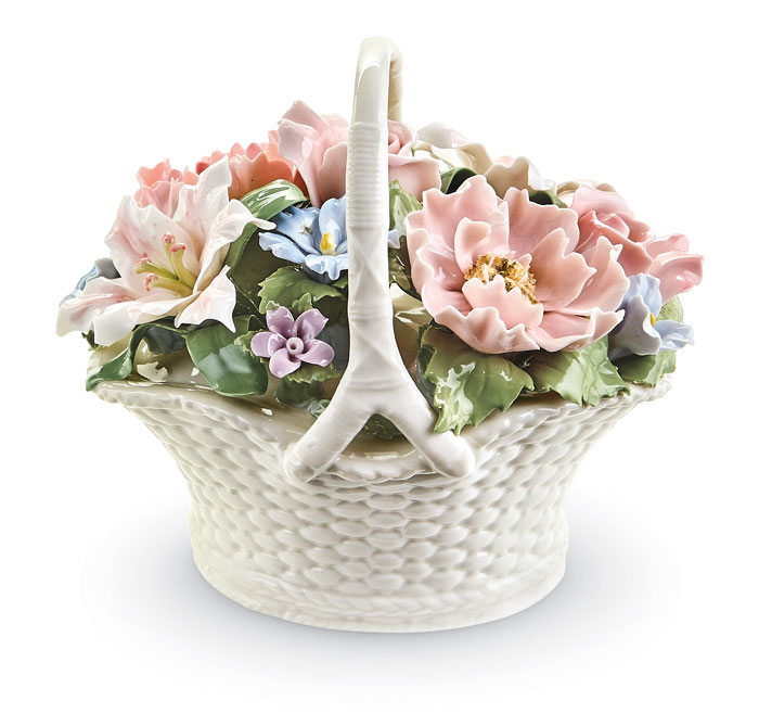 9241: Floral Basket Music Box (Product Detail)