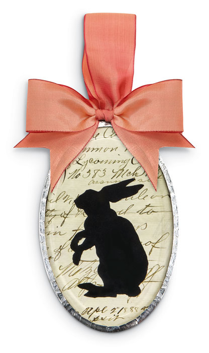 9330: Silhouette Ornament - Rabbit Oval (Product Detail)