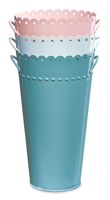 9316: Scalloped Enamel Flower Bucket (Product Detail)