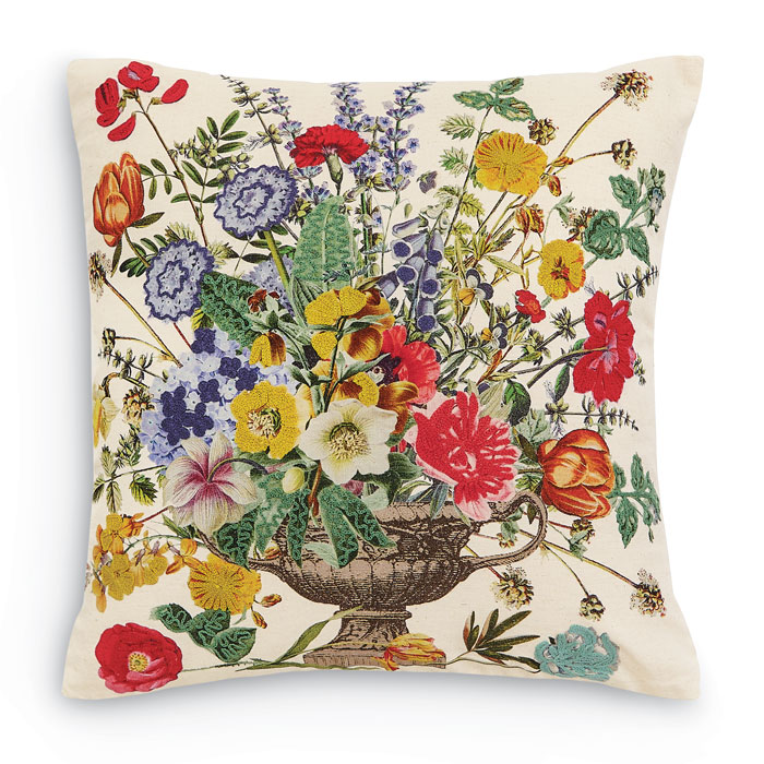 9336: Bouquet in Handled Urn Pillow (Product Detail)