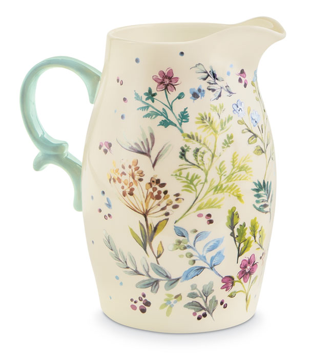 9340: Floral Pitcher (Product Detail)