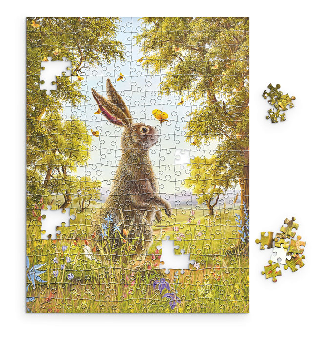 9345: Bunny and Butterfly Puzzle (Product Detail)