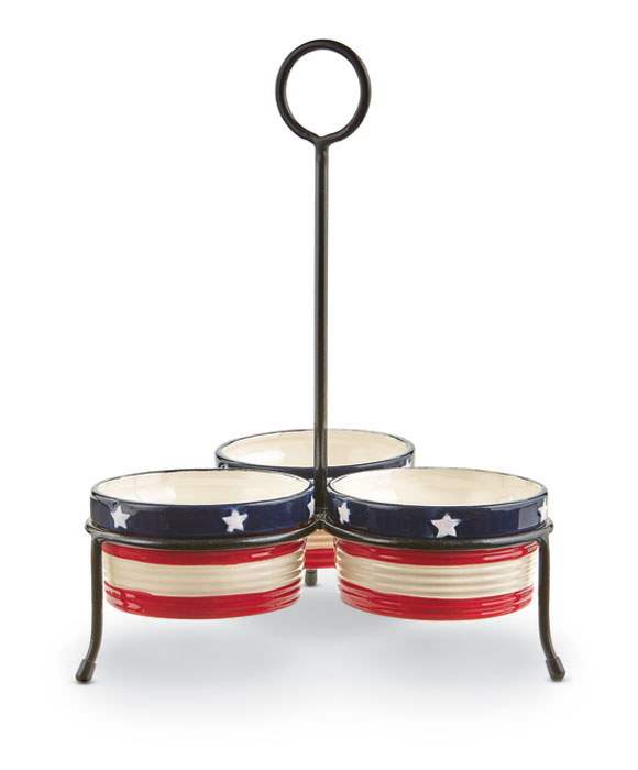 9293: Stars and Stripes Condiment Set (Product Detail)