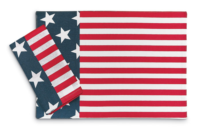 9236: Stars and Stripes Napkins (Set of Four) (Product Detail)