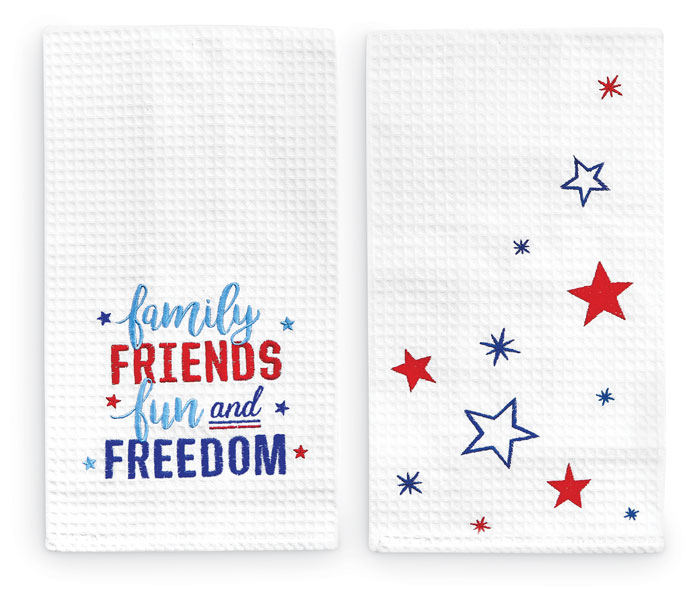 9239: Patriotic Towels (Set of Two) (Product Detail)