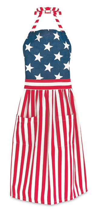 9237: Stars and Stripes Apron (Product Detail)