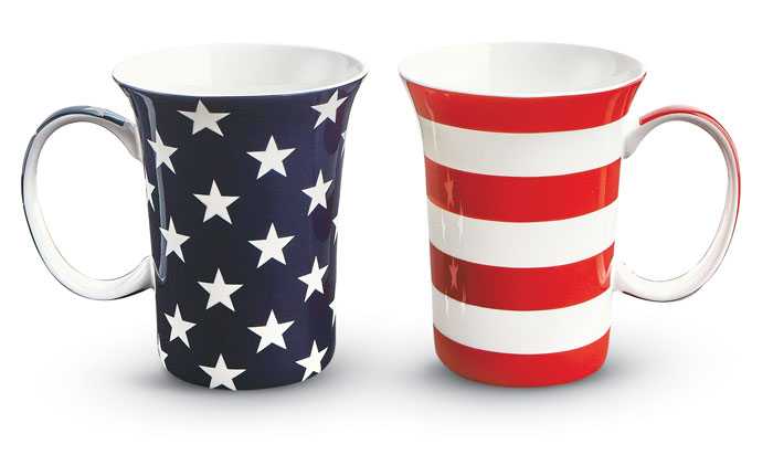 9240: Stars and Stripes Mugs (Set of Two) (Product Detail)