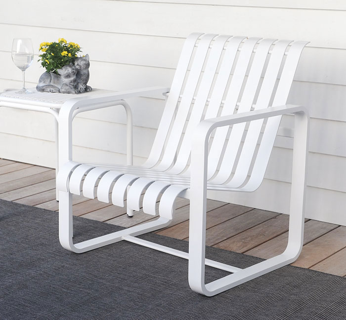 818599: Veranda Lounge Chair - White Sample (Product Detail)