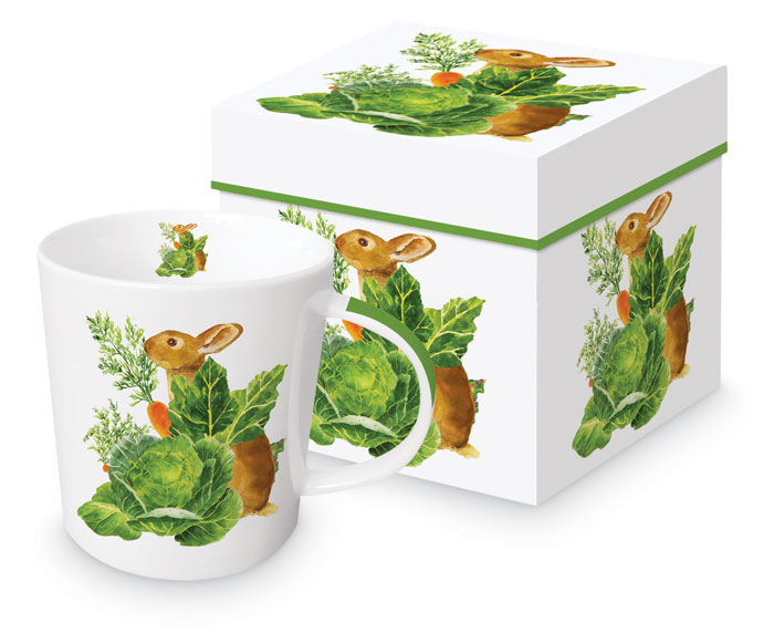 9376: Bunny with Cabbage Mug (Product Detail)