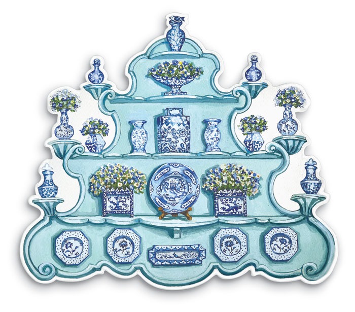 9371: China Cabinet Placemats (Set of Four) (Product Detail)