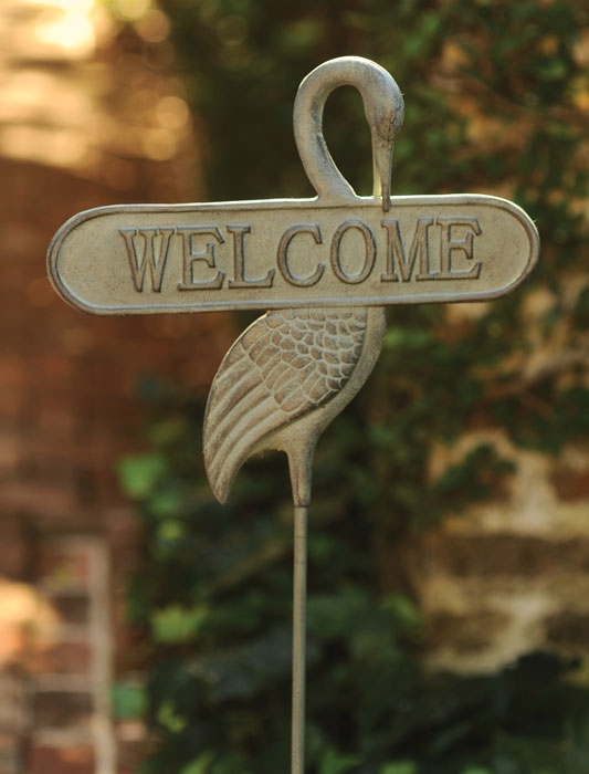 9197: Welcome Sign with Crane (Product Detail)