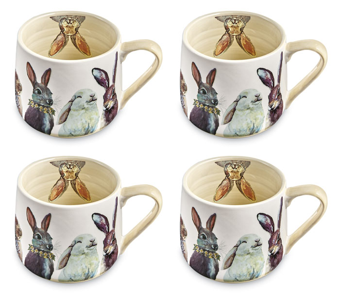 9381: Bunny Bunch Mugs (Set of Four) (Product Detail)
