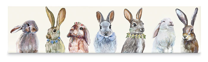 9384: Bunny Bunch Wall Art (Product Detail)