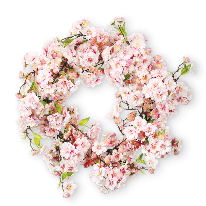9398: Cherry Blossoms Wreath / Pink (Product Detail)