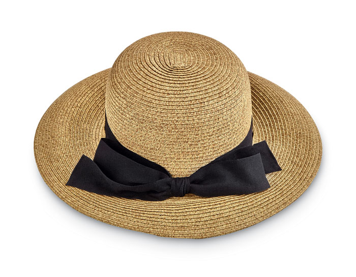 9348: Twill Sun Hat with Black Ribbon (Product Detail)