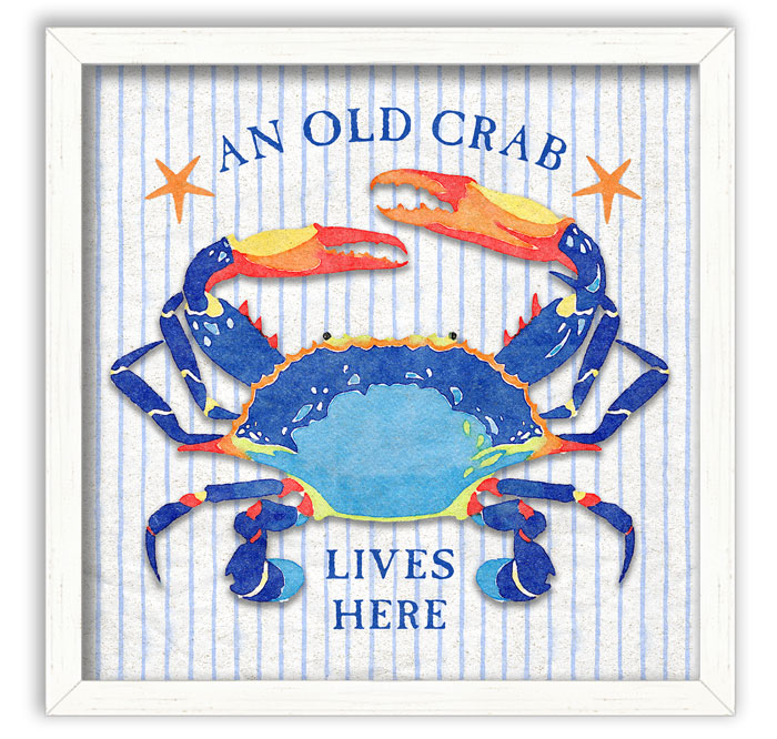 2786: Old Crab Wall Art (Product Detail)