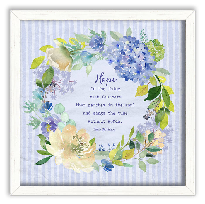 2787: Floral Wreath Wall Art - Hope (Product Detail)