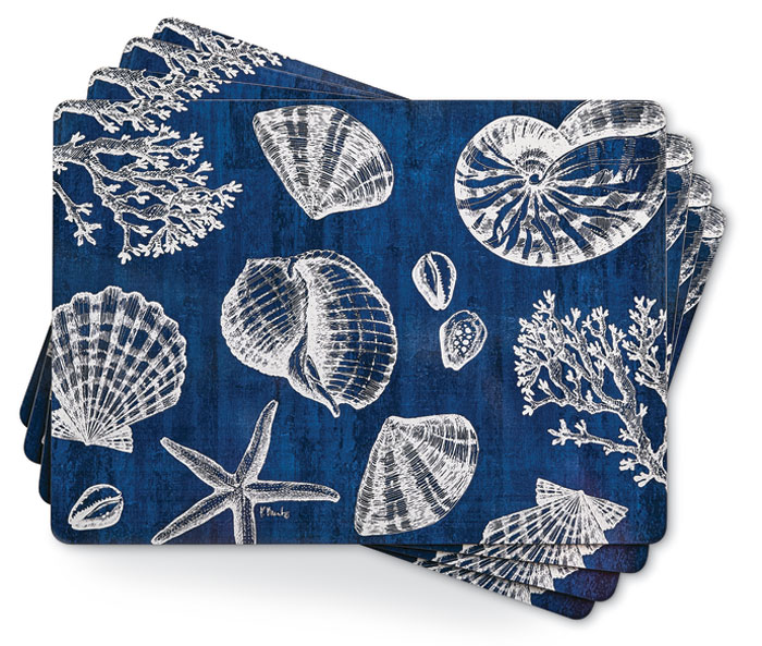 1012: Shells Placemats (Set of Four) (Product Detail)