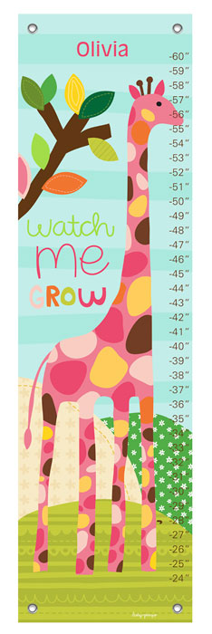1016: Growth Chart - Zoo Party (Product Detail)