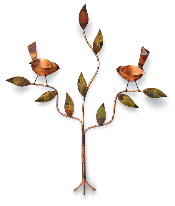 1034: Birds on Branch - Copper (Product Detail)
