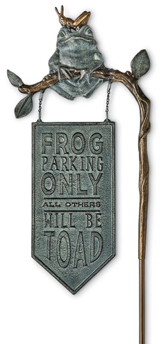 1033: Frog Parking Sign (Product Detail)