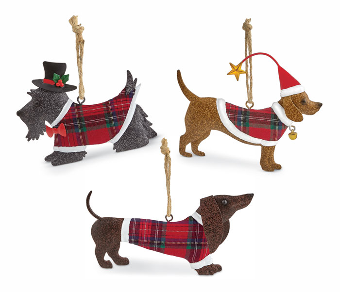 1268: Dog Trio Ornaments (Set of Three) (Product Detail)
