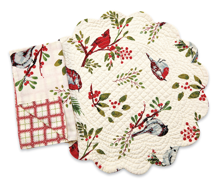 1285: Winter Birds Placemats (Product Detail)