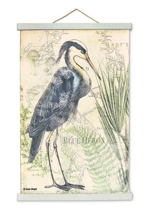 9532: Blue Heron Wall Hanging I (Product Detail)