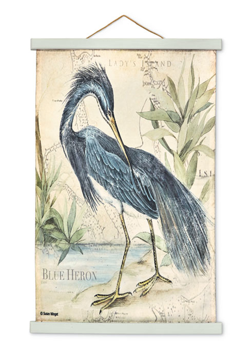 9533: Blue Heron Wall Hanging II (Product Detail)