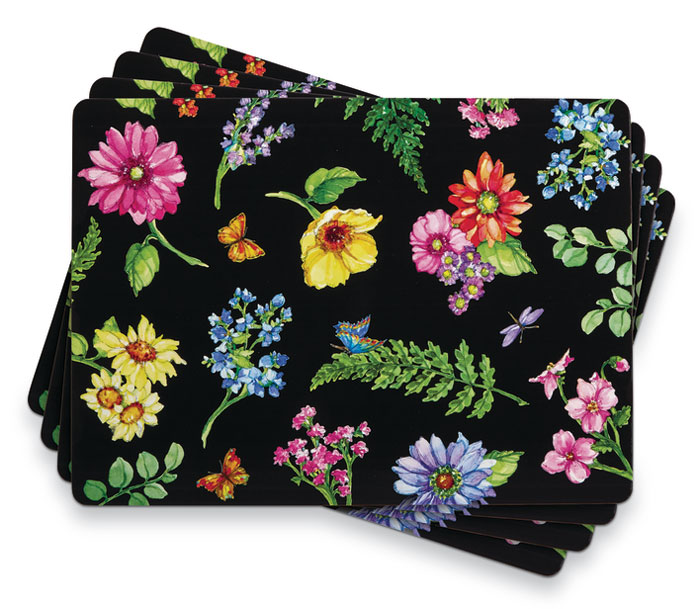 1021: Flower Dance Placemats (Set of Four) (Product Detail)