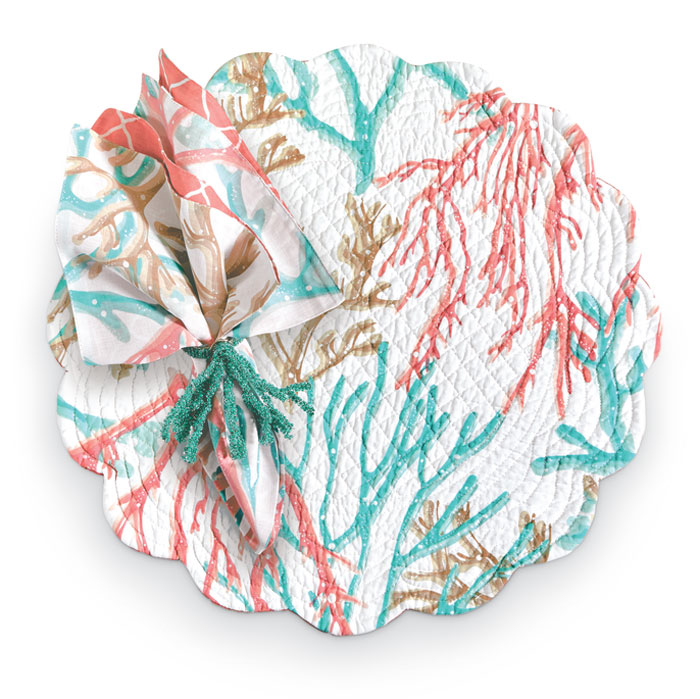 1472: Ocean Coral Placemats [Set of Four] (Product Detail)