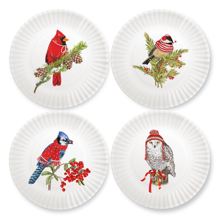 1606: Winter Birds Plates (Set of Four) (Product Detail)