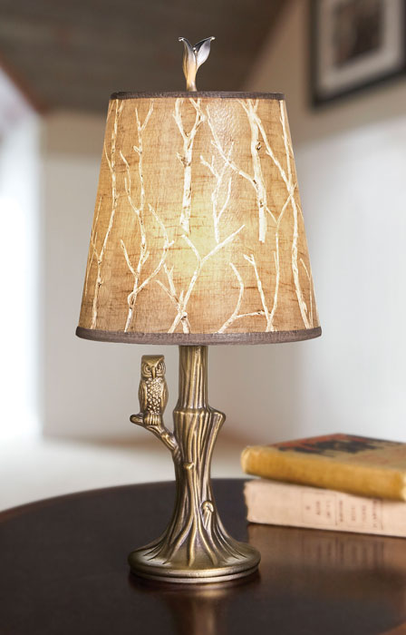909799: Ugone Owl Lamp with Twigs Shade - Sample (Product Detail)