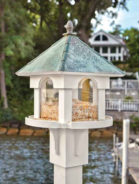 2466: Birdfeeder with Verdi Roof and Pineapple Finial (Product Detail)