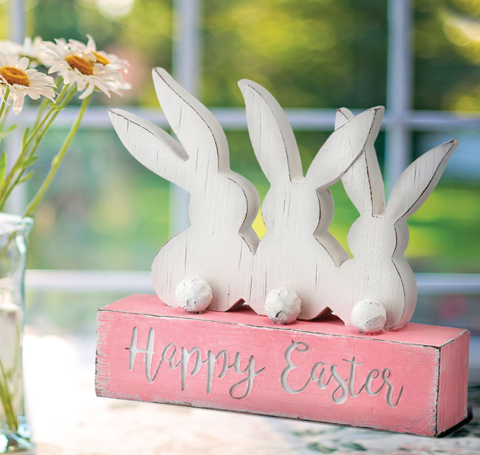 1608: Happy Easter Bunny Sign (Product Detail)