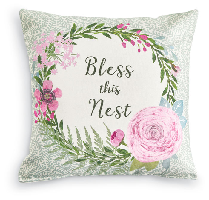 3830: Bless This Nest Pillow (Product Detail)