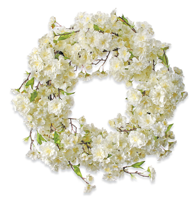 9404: Cherry Blossoms Wreath / White (Product Detail)