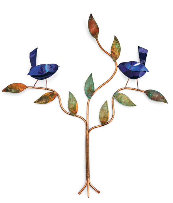 6706: Birds on Branch - Blue (Product Detail)