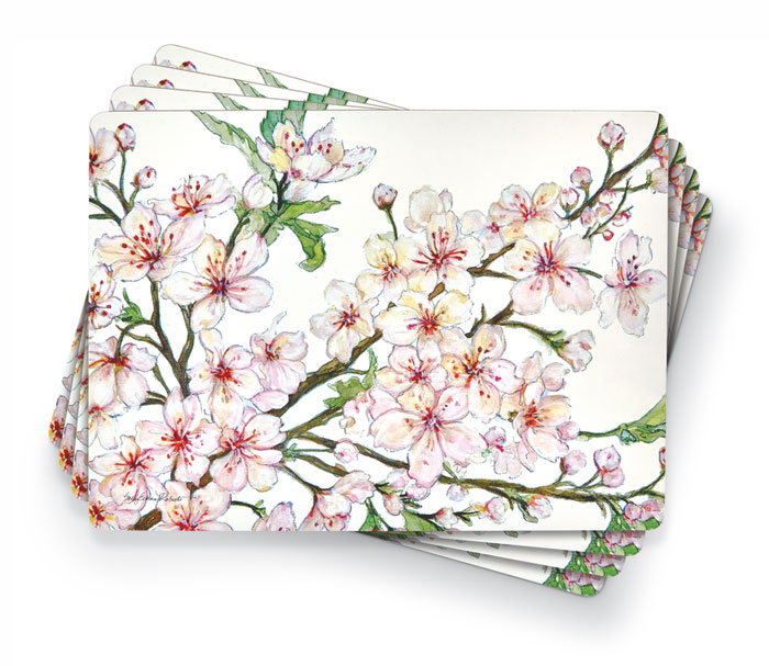 6527: Cherry Blossoms Placemats (Set of Four) (Product Detail)