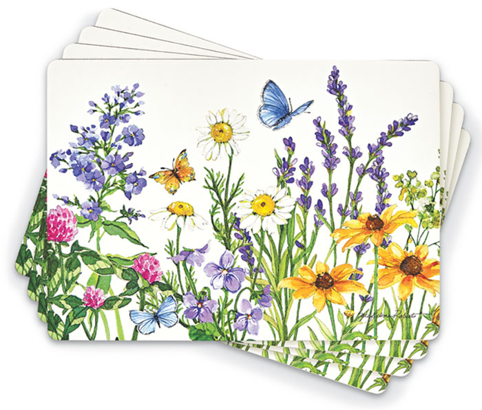 2181: Wildflowers and Butterflies Placemats (Set of Four) (Product Detail)